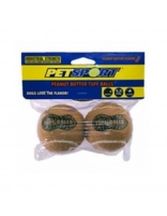 Petsport Peanut Butter Balls Dog Toy, 2 Pack