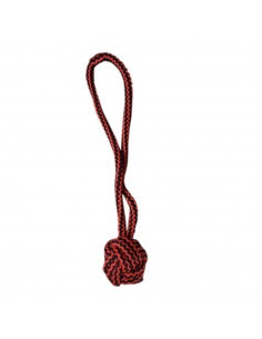 Pawzone Fist Knot Rope Dog Toy  (Red)