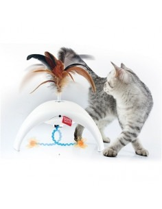 Petdroid Battery Operated Feather Spinner for Cats