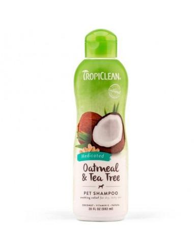 TROPI CLEAN Oatmeal & Tea Tree Shampoo, Medicated, 355 ml