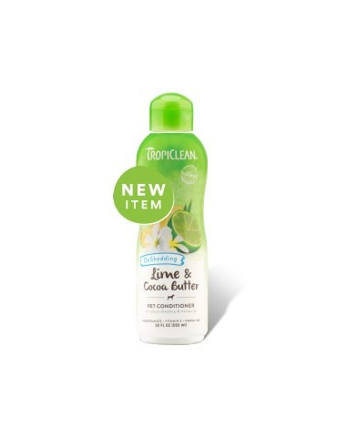 TROPICLEAN Lime & Cocoa Butter Pet Conditioner, Deshedding, 355 ml