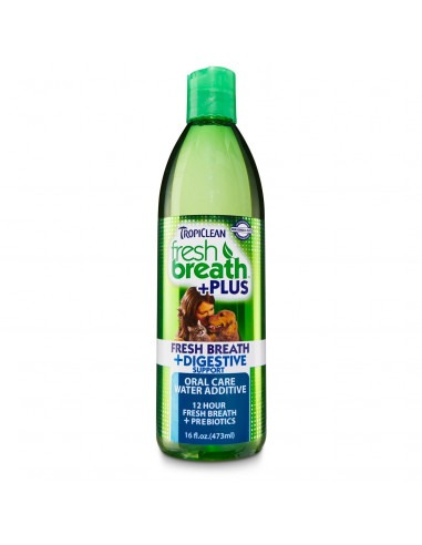 TROPICLEAN Fresh Breath Digestive Support Water Additive 473 ml