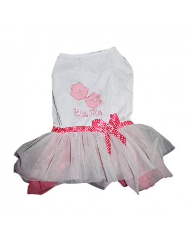 Pawzone Kiss Me Frock For Cats