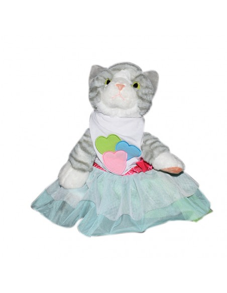 Pawzone Yellow Rabbit Designed Frock For Kitty