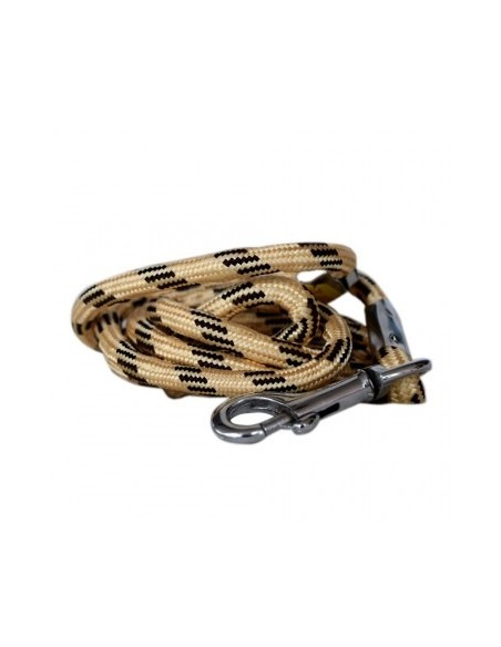 Pawzone Thin Rope Leash for Dogs Black