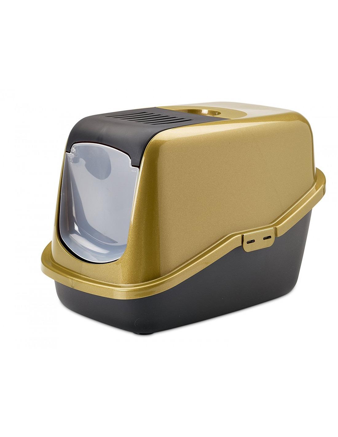 Savic Nestor Cat Toilet Home Glitter Gold Black