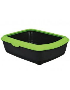 Trixie, Classic Cat Litter Tray with Rim, Apple Green, 19x15x6inch