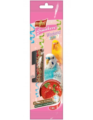 Vitapol Strawberry Smakers For Budgie90gms