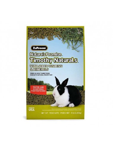 Zupreem Natures Promise Timothy Naturals Rabbit Food 2.26kg