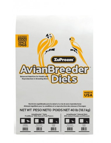 Zupreem FRUIT BLEND  WITH NATURAL FRUIT FLAVOURS  (COCKATIELS) 18.14 Kgs
