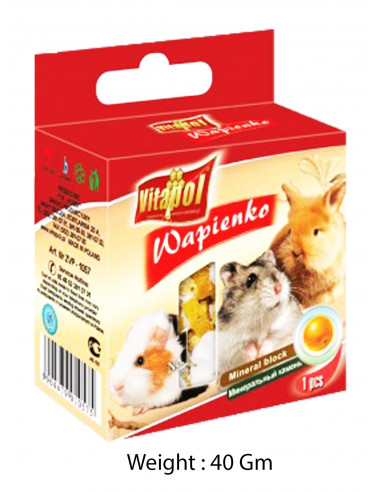 Vitapol Mineral Block For Rodents Natural 40gms