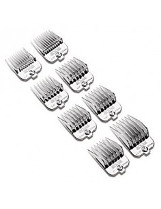 Andis Chrome Plated Magnetic Snap On Combs 8-Piece Set
