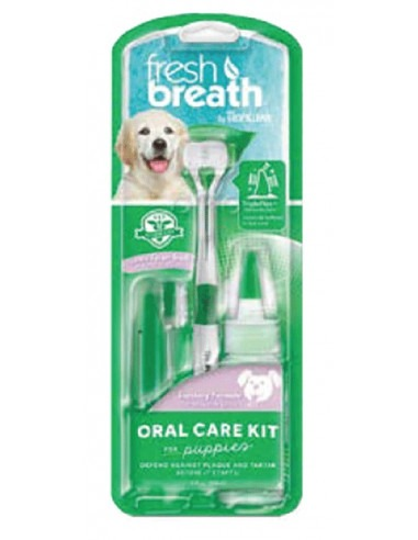 TROPICLEAN Fresh Breath Oral Care Kit For Puppies