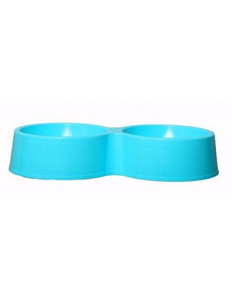 Pets Empire Plastic Double Diner Bowl