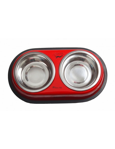Pets Empire Solid Double Diner Box Set Colored Bowl