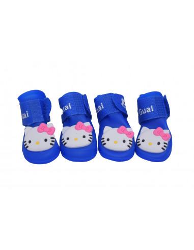 Pawzone Royal Blue Gummy Cat Shoes