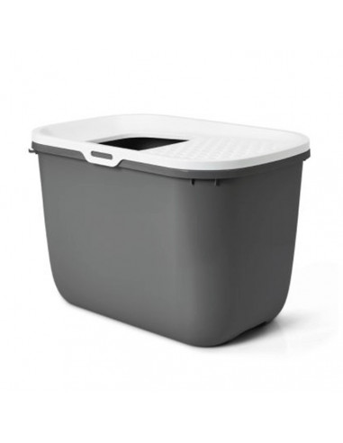 Savic Hop In Modern Cat Litter Tray Anthracite 23x15x15 inches