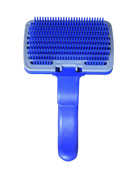 Pawzone Plastic Slicker Brush with Press Key