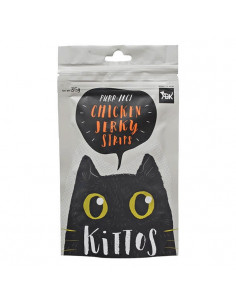 Kittos Chicken Jerky Strips Cat treat 35 gm  (Pack of 3)