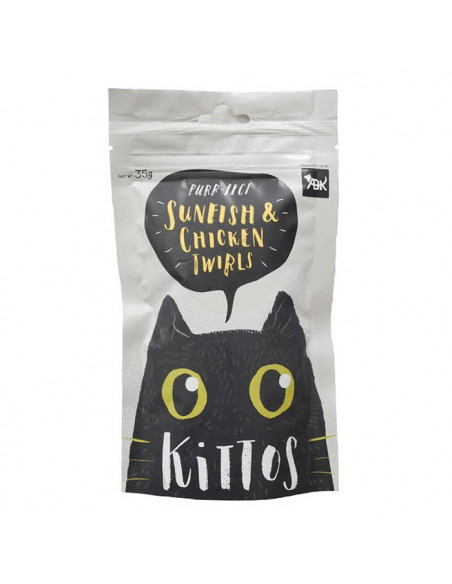 Kittos Sunfish and Chicken Twirls 35 gm (Pack of 3)