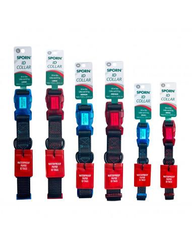 Yup Sporn ID collars Black/Red