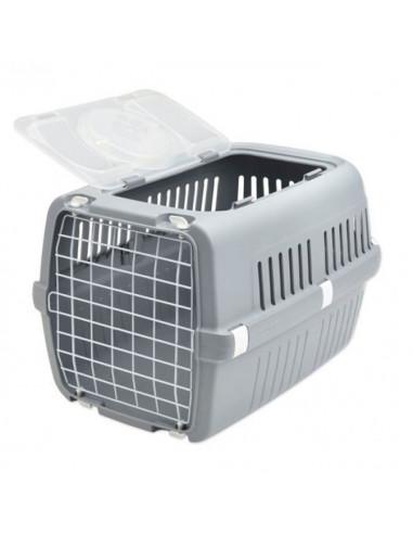 Zephos 2 Open Pet Carrier Grey 22x15x13 inches