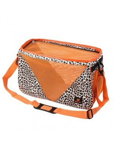 Pawzone Leaperd Print Travel Carrier