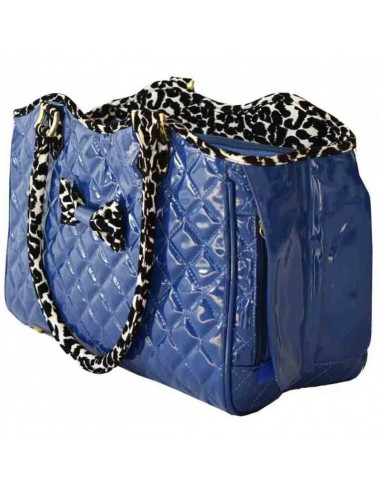 PawZone Blue Bag With Black and white Handle