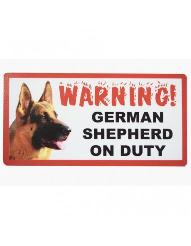 """Pawzone Good Quality Warning Boards""""Greman Shepered on Duty"""""""