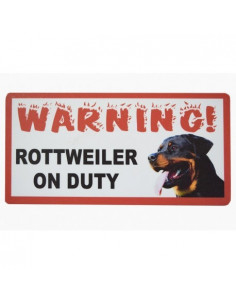 "Pawzone Good Quality Warning Boards""Rotweiler on Duty"""