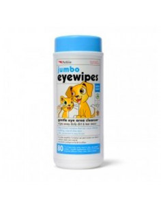 Petkin Jumbo Eye Wipes for Dogs, 80 Count