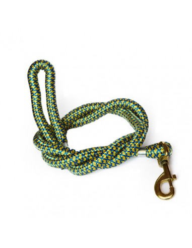 Pawzone high quality thick rope leash with brass hook For Big Dog 22mm