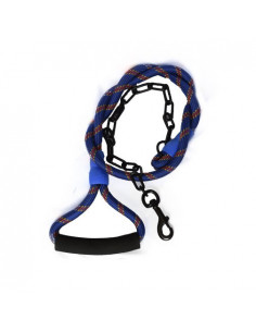 PAWZONE THICK ROPE CHAIN LEASH WITH HANDLE FO DOGS