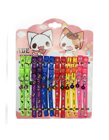 Pawzone Pet Cat Collar With Bell (Pack of 2)