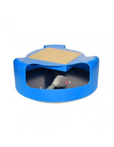 Pawzone Cat & Mouse Chase Toy with Scratch Pad