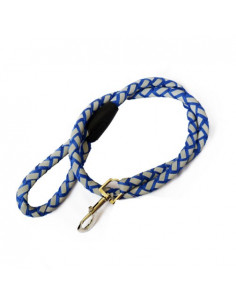 PAWZONE White AND BLUE DOG ROPE LEASH 18MM