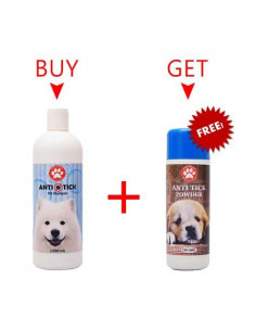 Pawzone Anti Tick Pet Shampoo 1000ml + Pawzone Anti Tick Powder 100gms
