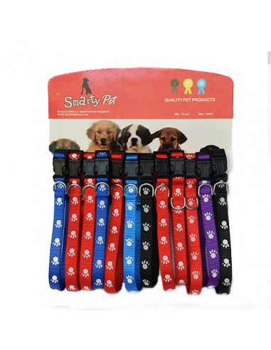 Smarty Pet Paw Printed Puppy Collar (Pack Of 2)