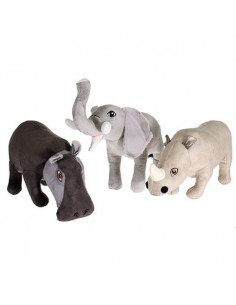 "Pet sports,  Tuff Plush Safari Suede 12.5"" Assorted, 32cm"