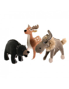 "Petsports,  Tuff Plush Forest Friends 14.5"" Assorted, 37cm"