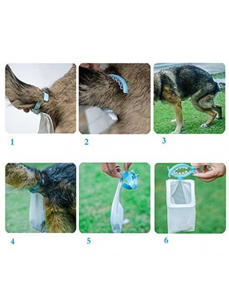 Pawzone Hands Free Dog Faeces Container Clip With Portable Dog Waste Bags