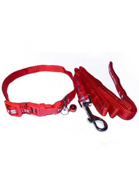 Pawzone Printed Collar With Leash
