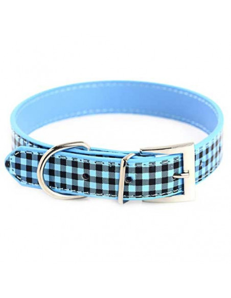 Pawzone Fashionable Red Checks Puppy Collar