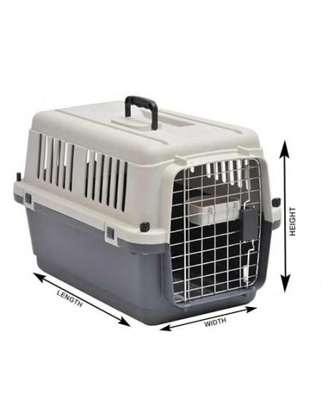 Pawzone Pet Carrier White & Grey 20x16x13