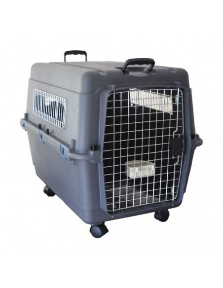 Pawzone Pet Carrier White & Grey 40x27x30 Inches length